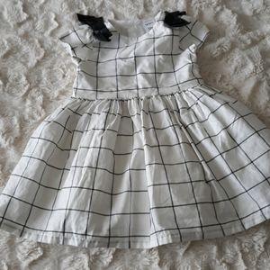 Baby girl carters dress 12m black white plaid